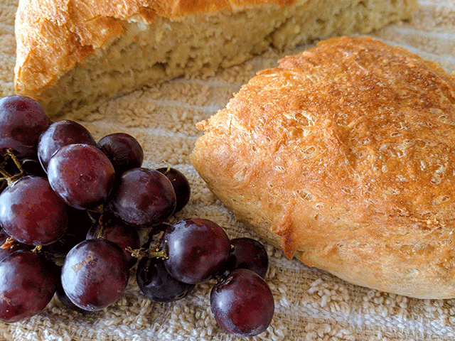 Simple no knead peasant bread